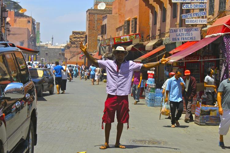 Brian Poli-Dixon in Morocco