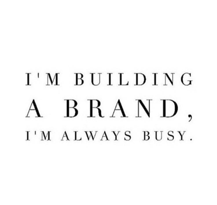 I'm Building a Brand - Instagram Post
